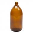 Bouteille en verre ambré 1L avec bouchon de sécurité