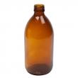 Bouteille verre ambré 500ml avec bouchon sécurité